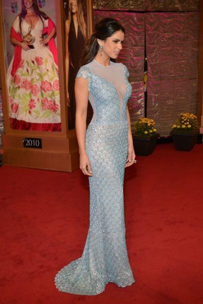 Vanessa De Roide, la actual reina de Nuestra Belleza Latina, en un vesti...