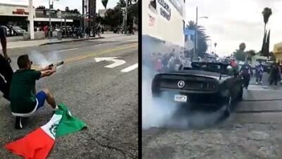 Al menos cuatro arrestos durante festejos en California por triunfo de México en el Mundial