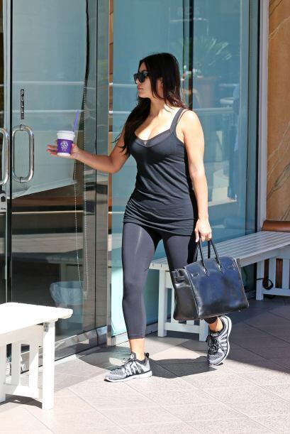 Para tener un cuerpazo como el de Kim hay que darle duro al ejercicio.