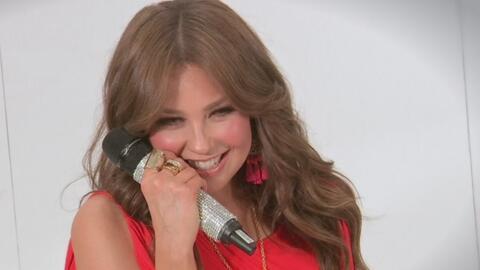 Mira la cara que pone Thalía cuando se habla de su reencuentro con sus a...
