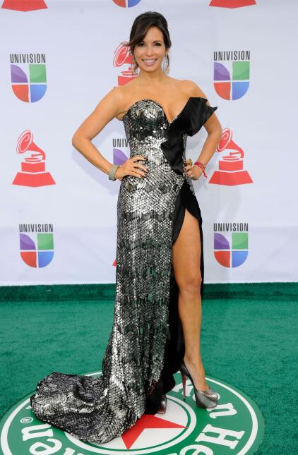 Actress Giselle Blondet arrives at the 12th annual Latin GRAMMY Awards a...