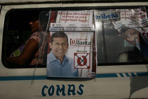 El ex militar izquierdista Ollanta Humala continúa liderando las...