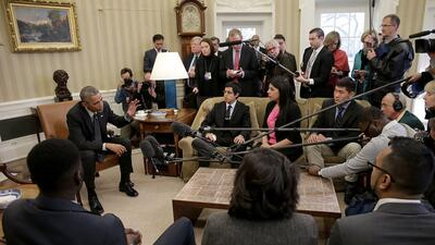 President Obama met with Dreamers at the White House in 2015