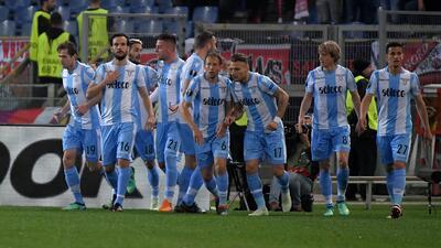 En fotos: Lazio impuso su jerarquía con triunfo 4-2 contra Salzburgo en la Europa League