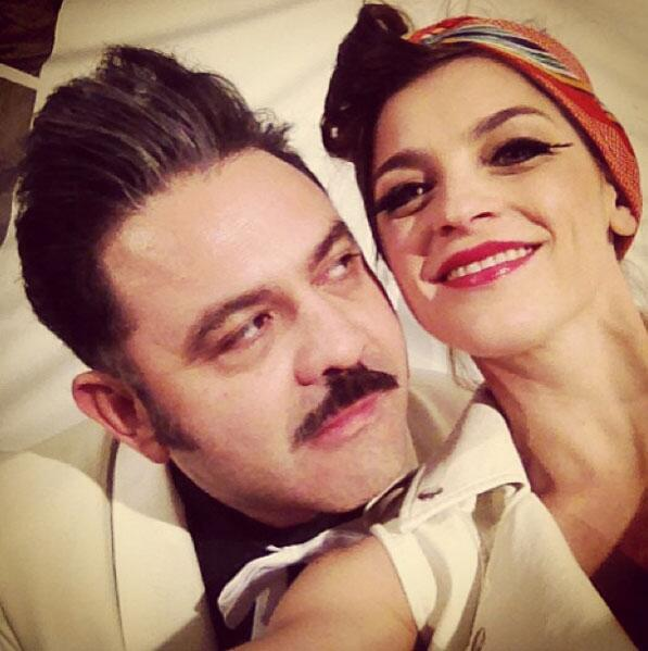 Irene Azuela y Quique Rangel.