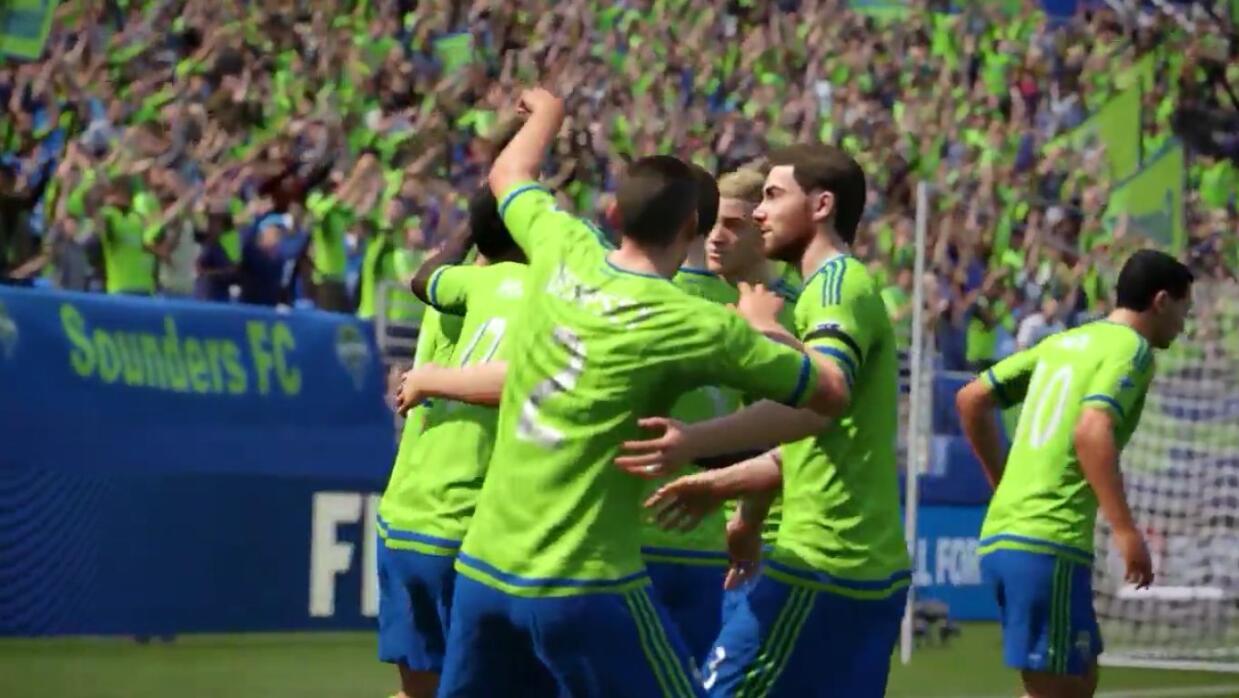 Seattle Sounders en la demo del FIFA 16 de EASPORTS