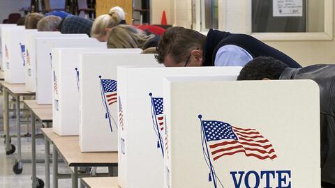 Puestos de votación en Clifton, Virginia (archivo)
