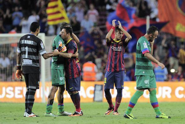 El silbatazo final marcaba el 7-0 definitivo en la casa del Barcelona.
