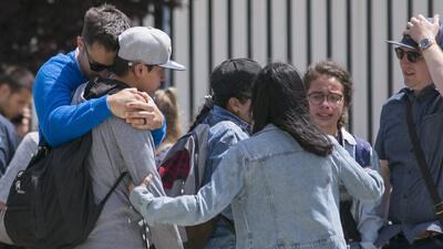 ¿Qué mecanismos se activan en el condado de Los Ángeles cuando ocurre un tiroteo escolar?