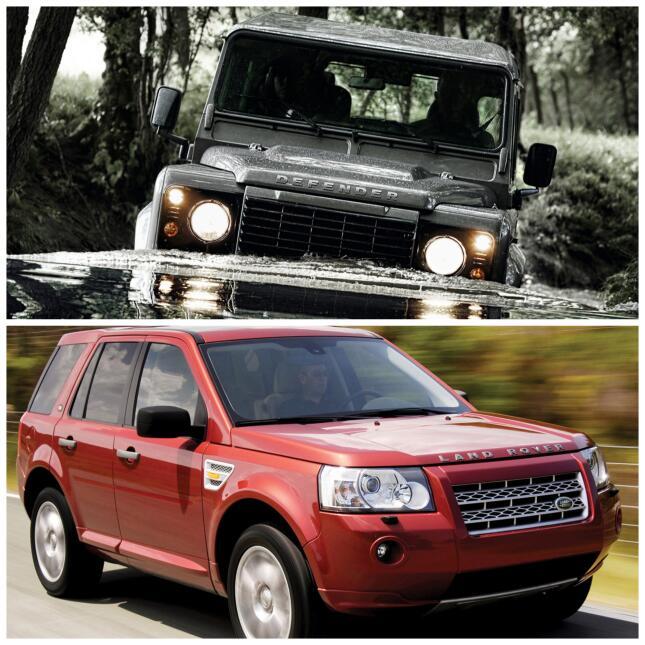 Land Rover Defender 2015 y Land Rover LR2 2008