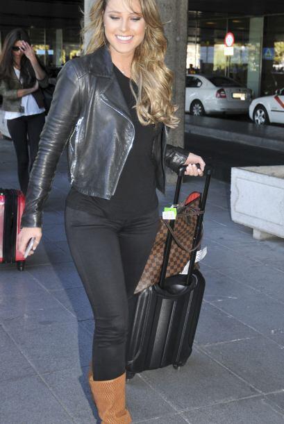 Vanessa llegó con un par de maletas para disfrutar su estancia en España.