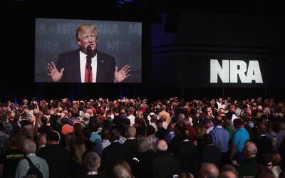 Trump también ha mostrado su apoyo a la Asociación Naciona...
