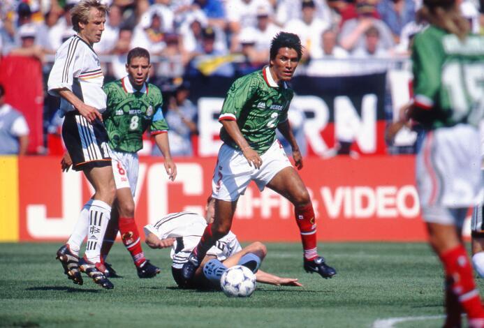 El último partido en una Copa del Mundo entre México y Alemania fue en F...
