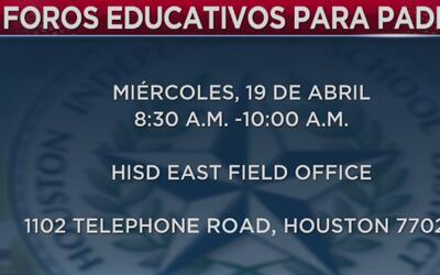El distrito escolar de Houston quiere hacer cambios a sus programas de e...