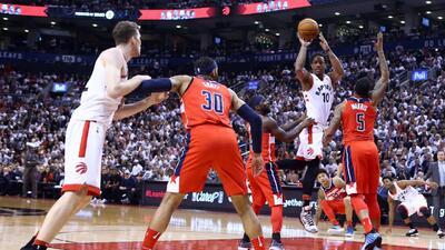 Raptors recuperan el paso ante Wizards con triunfo en el Juego 5