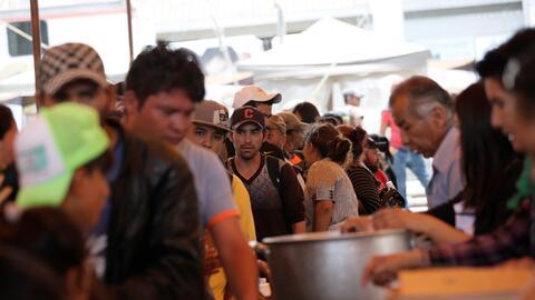 Integrantes de la caravana de migrantes se han tenido que separar en var...