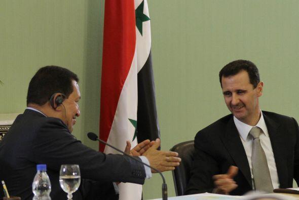 Bashar al Asad. Defensor del presidente sirio, Chávez ha denunciado las...