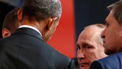 En fotos: Las expresiones que revelan como fue la relación entre Putin y Obama