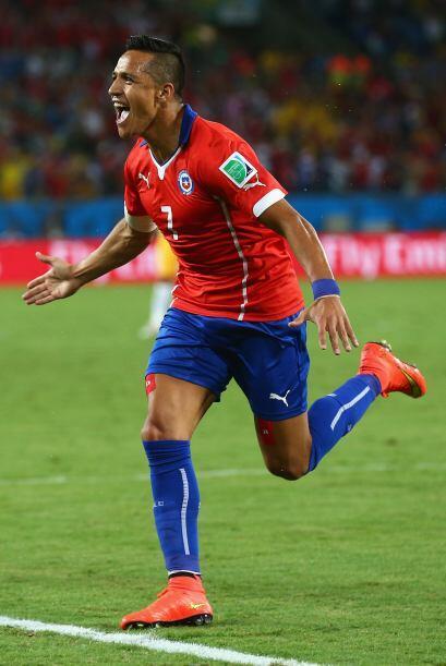 Muy rápido en el juego, los chilenos se fueron al frente en el marcador...