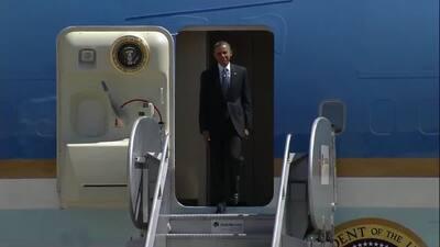 Obama llegó a México para la Cumbre anual de Líderes de América del Norte