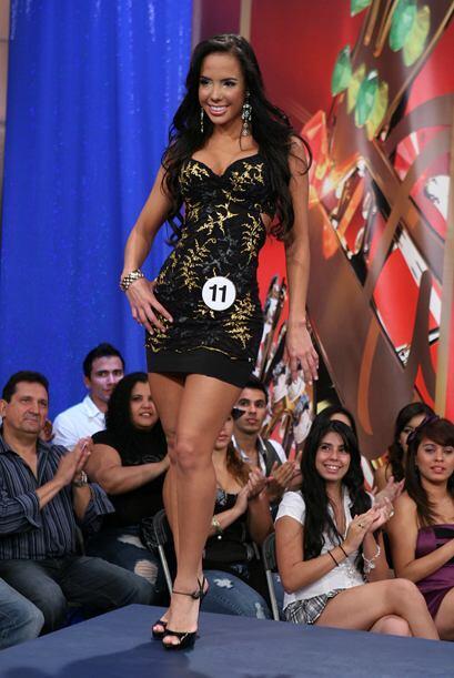 La colombiana Bárbara Yusti se quedó con el tercer lugar....