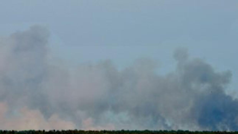 Este fuego quemaba a unas pocas millas del edificio donde preparan las n...