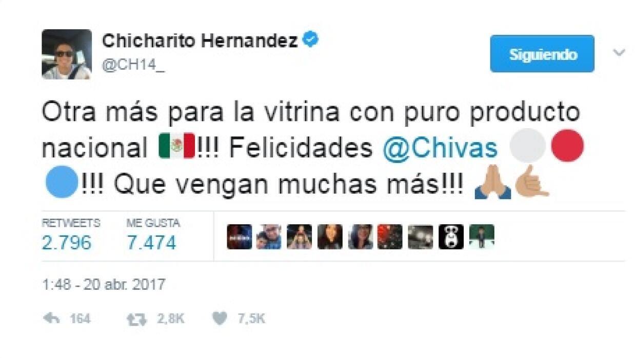 'Chicharito' felicitó a Chivas