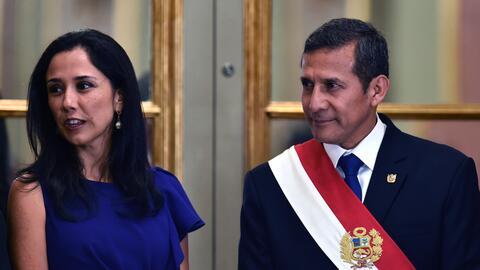 Humala y su esposa Nadine Heredia.