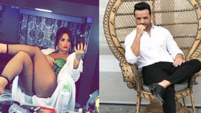 Demi Lovato y Luis Fonsi.