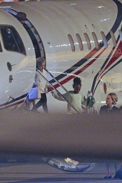 Hace un par de días los captamos llegando en una avioneta privada.