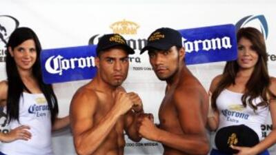 Mendoza y Saguilan listos (Foto: HG Boxing)