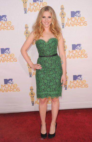 Otra que optó por un  vestido verde de Dolce&Gabbana para los premios MT...