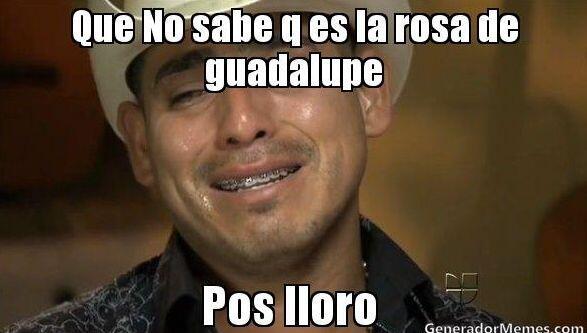 """""""Que no sabe que es la Rosa de Guadalupe. Pos lloro""""."""
