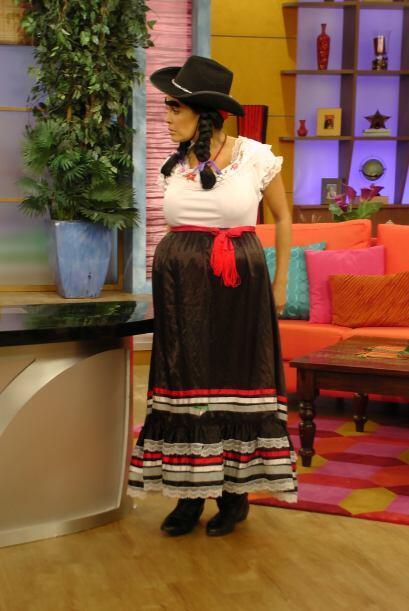 """""""¡No estoy embarazada, así soy!"""", explicó Doña Chona a los jueces."""