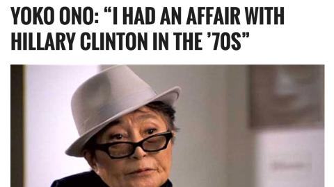 """Yoko Ono: """"Tuve un idilio con Hillary Clinton en los 70"""""""