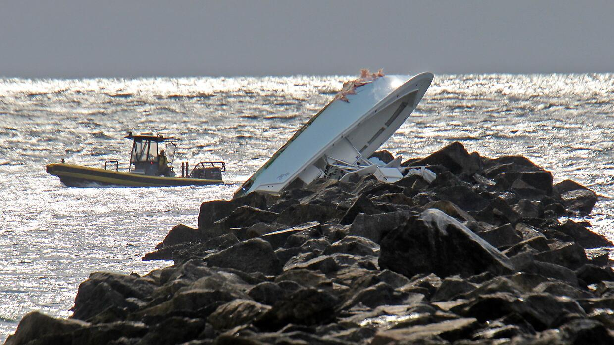 Lugar del accidente en el rompeolas de South Beach.