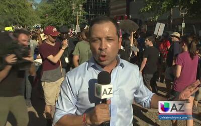 Anuncian cancelación del perdón de Arpaio durante la visita de Trump a P...