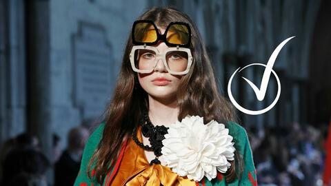 La colección de Gucci tiene una fuerte influencia retro.