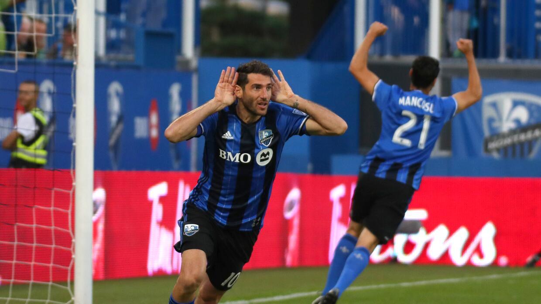 Ignacio Piatti, Matteo Mancosu celebran gol Montreal vs Chicago Fire