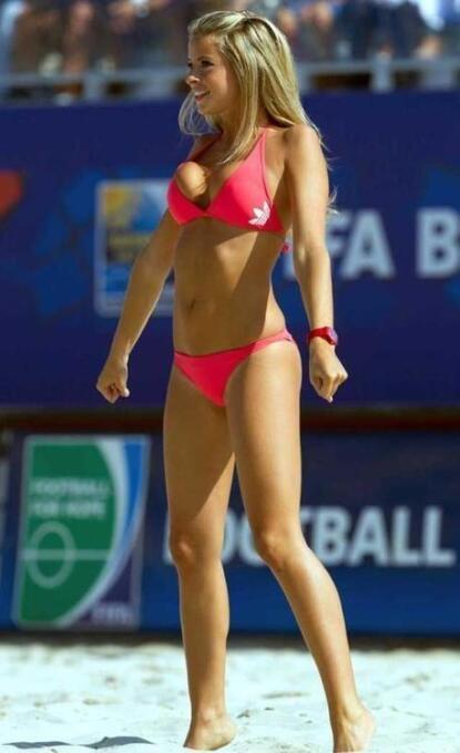 La bella modelo española se convirtió en la Reina del Mundial de fútbol...