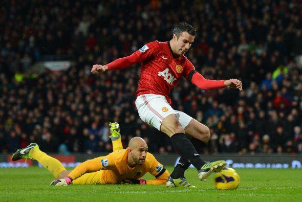 El delantero holandés del Manchester United está intratable.