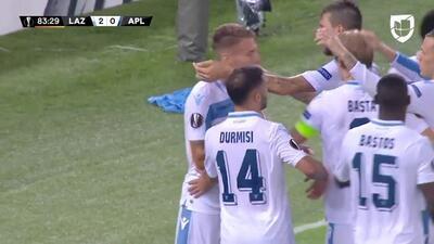 ¡GOOOL! Ciro Immobile anota para Lazio