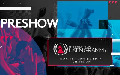 Preshow Latin GRAMMY promo image