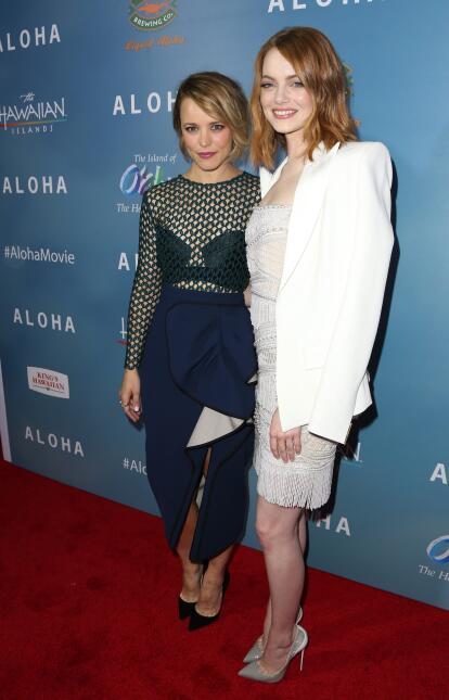 Las dos bellas actrices deslumbraron en la alfombra roja de su nueva cin...