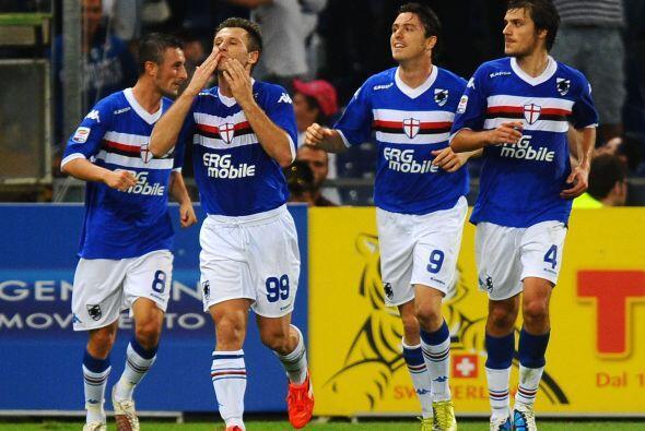 Antonio Cassano rompió la paridad con un penalti.