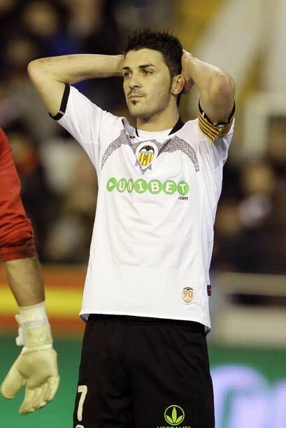 David Villa y el Valencia tienen cuesta arriba su continuidad en la Copa.