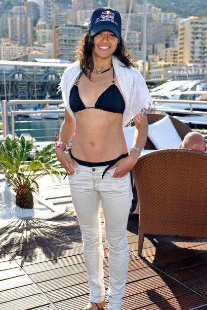 La actiz  Michelle Rodriguez fue invitada especial a la fiesta de Red Bu...