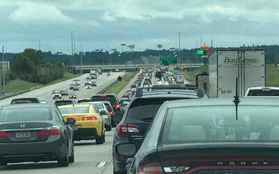 Un trayecto de la I 75, saliendo de Macon, Georgia la tarde del martes 1...
