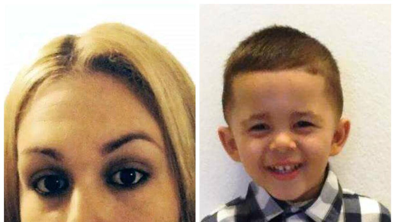 Suheydy Galarza Maldonado y su hijo Edison Enrique Rosado Galarza.