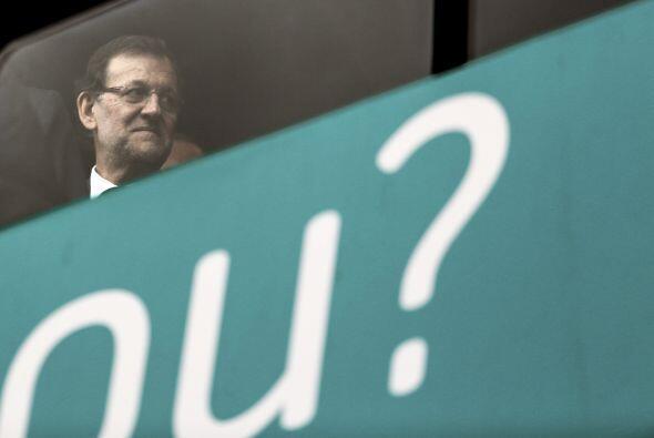 El presidente de España, Mariano Rajoy, asistió al servicio acompañado d...
